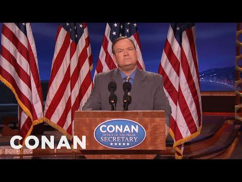 Andy Richter Is Conan's Sean Spicer   CONAN on TBS