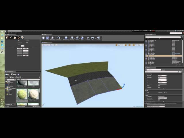 Создание уровня в Unreal Engine 4 - Редактирование брашей BSP (Урок неактуален)