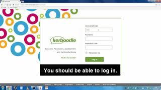 Kerboodle Login Instructions