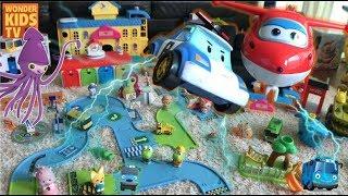명탐정 로보카폴리 타요마을 범인과 보물을 찾아라! 명탐정 폴리 Role play poli in tayo mystery toy town l toy cinema