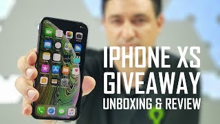 iPhone XS - GIVEAWAY + UNBOXING + REVIEW