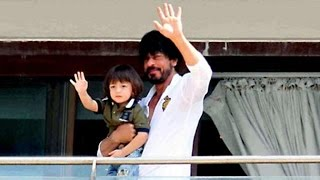 Shahrukh Khan & Abram 50th BIRTHDAY Celebrations At Mannat
