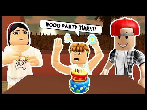 THROWING A CRAZY BIRTHDAY PARTY FOR MY KIDS! - Roblox