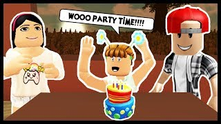 THROWING A CRAZY BIRTHDAY PARTY FÜR MEINE KIDS! - Roblox