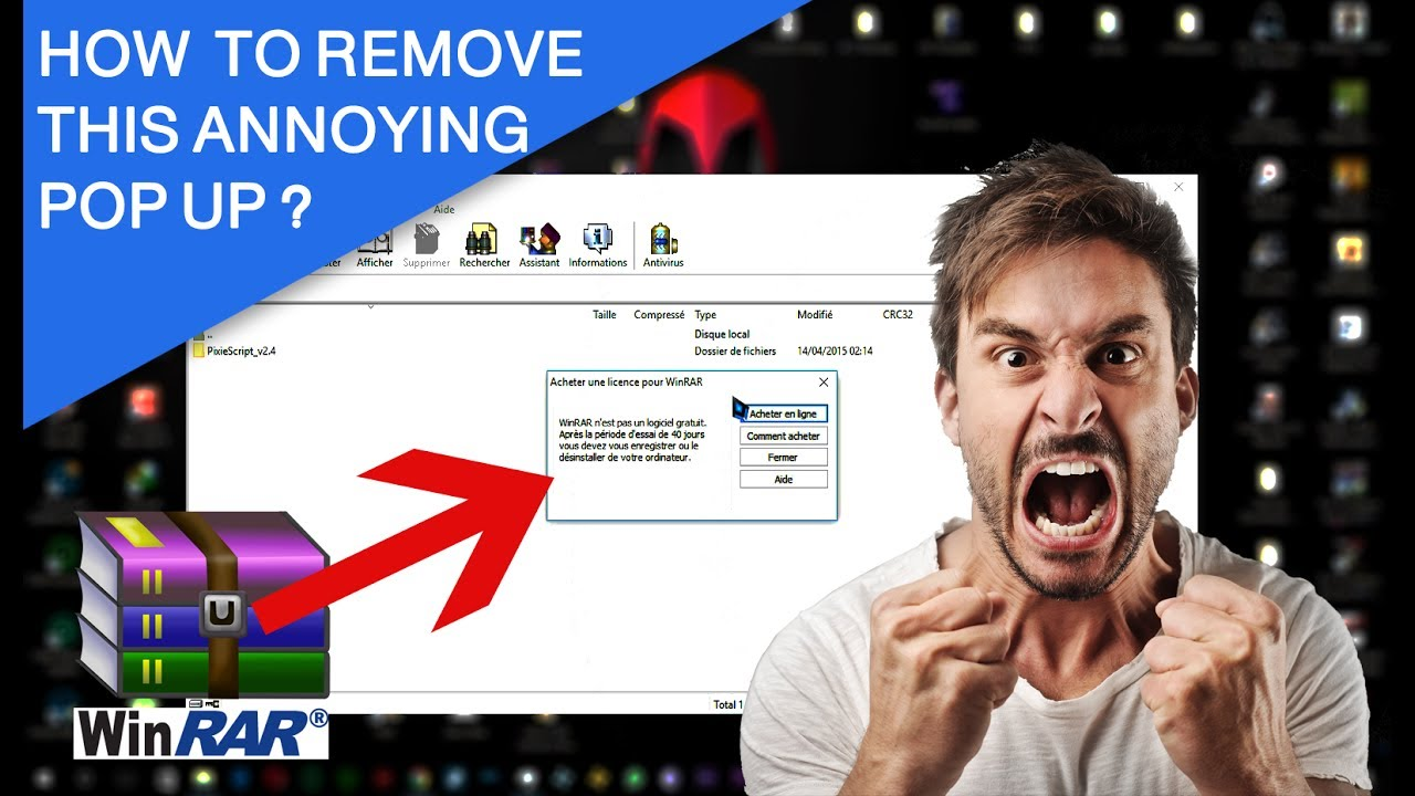 How to remove WinRAR expiration notification (works for any version)