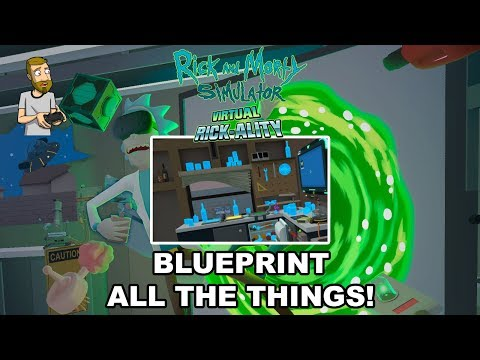 BLUEPRINT/WIREFRAME COMBINATIONS!  WHAAAAT?! | Rick and Morty Simulator: Virtual Rick-Ality