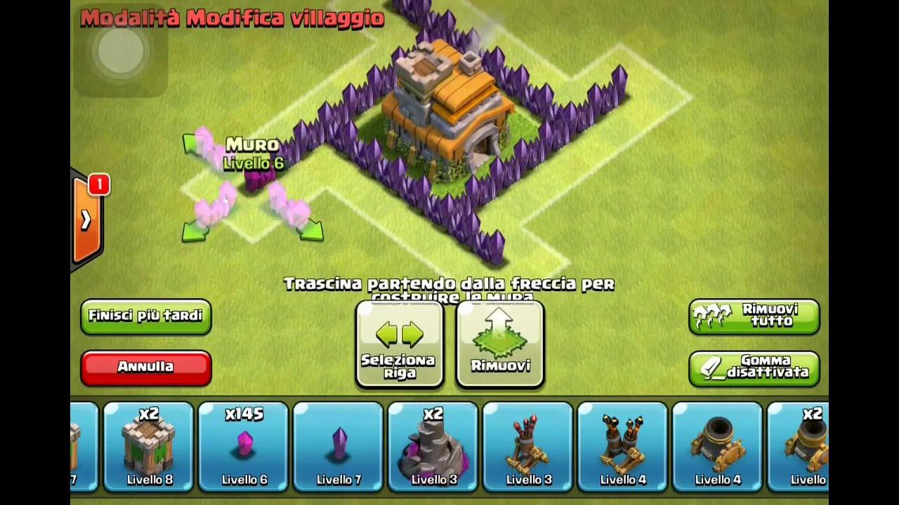 1 come fare un villaggio per trofei municipio 7 clash