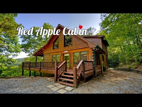 🌲Welcome To Red Apple Cabin Vacation Rental Home In Blue Ridge Georgia On Top Of The Mountains🗻