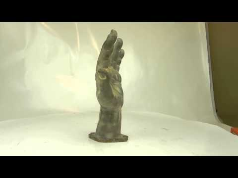 Antique Aluminum Hand Sculpture