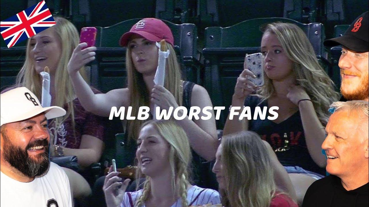 MLB Worst Fans REACTION!!   OFFICE BLOKES REACT!!