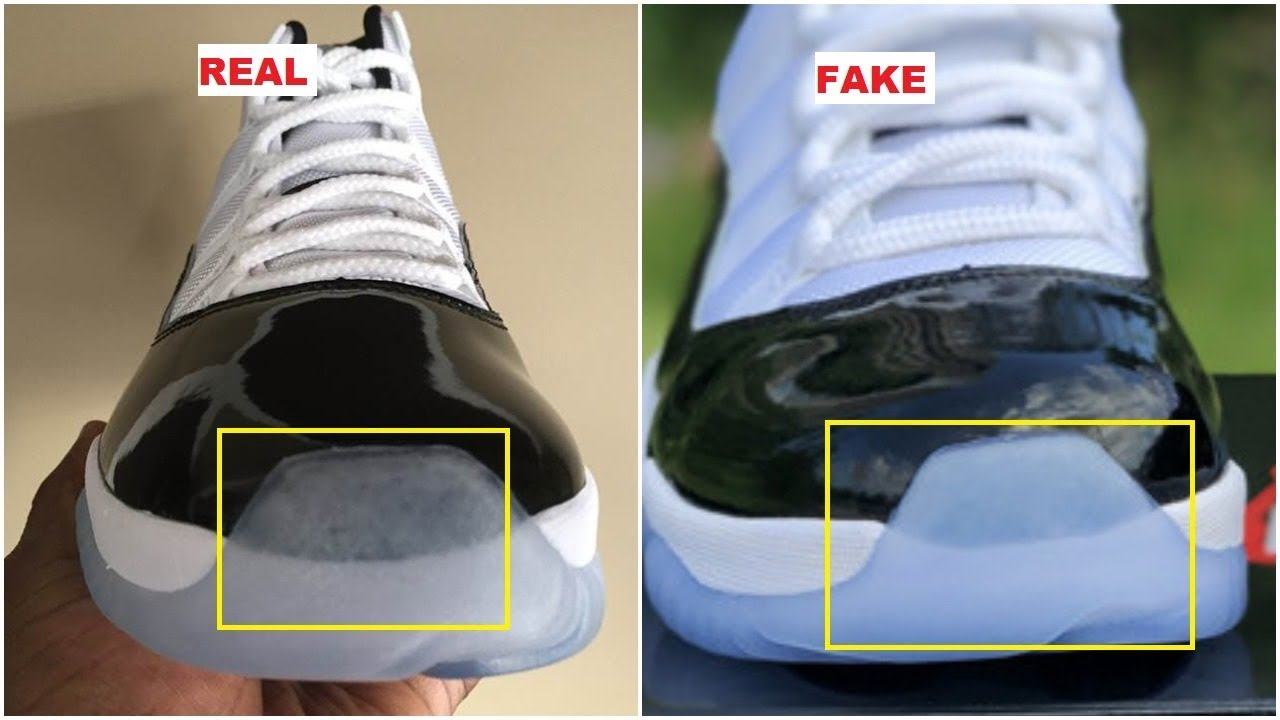 Real VS Fake 2018 Air Jordan 11 Concord  45  42ebc772f