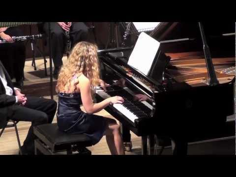 Veronika Shoot plays Stravinsky Concerto for Piano & Winds - movements 2 and 3