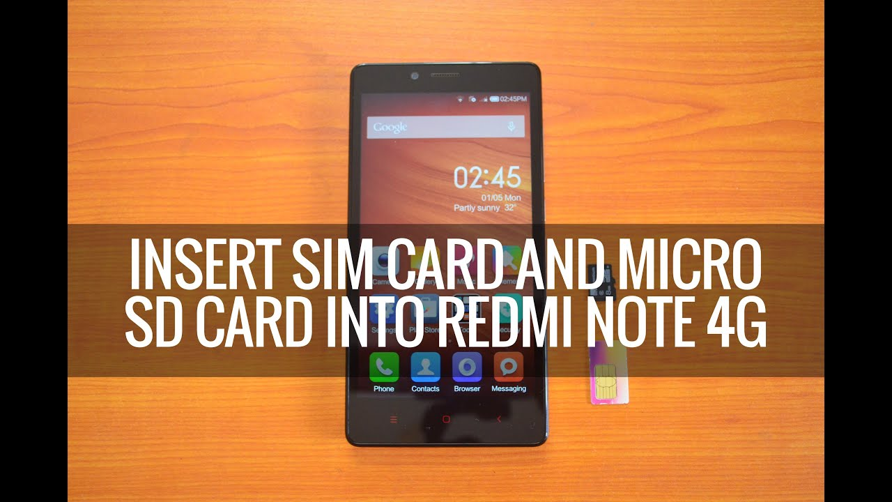 how to put microssd and sim card