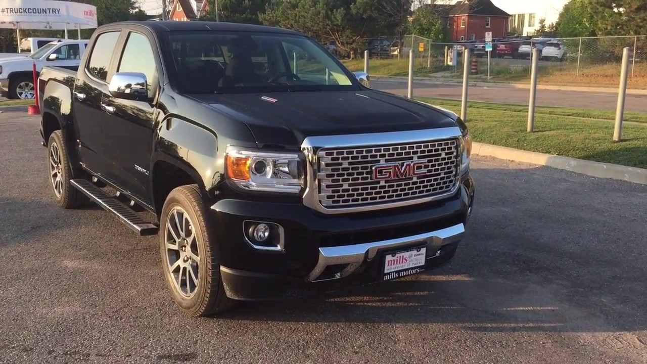 2018 Gmc Canyon Denali Duramax Diesel Cooled Seats Wireless Charge