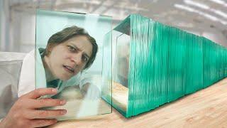На каком слое стекло перестанет быть прозрачным