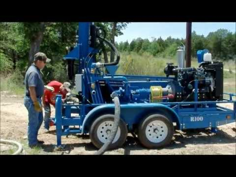 RockBuster R100 Portable Water Well Drilling Rig