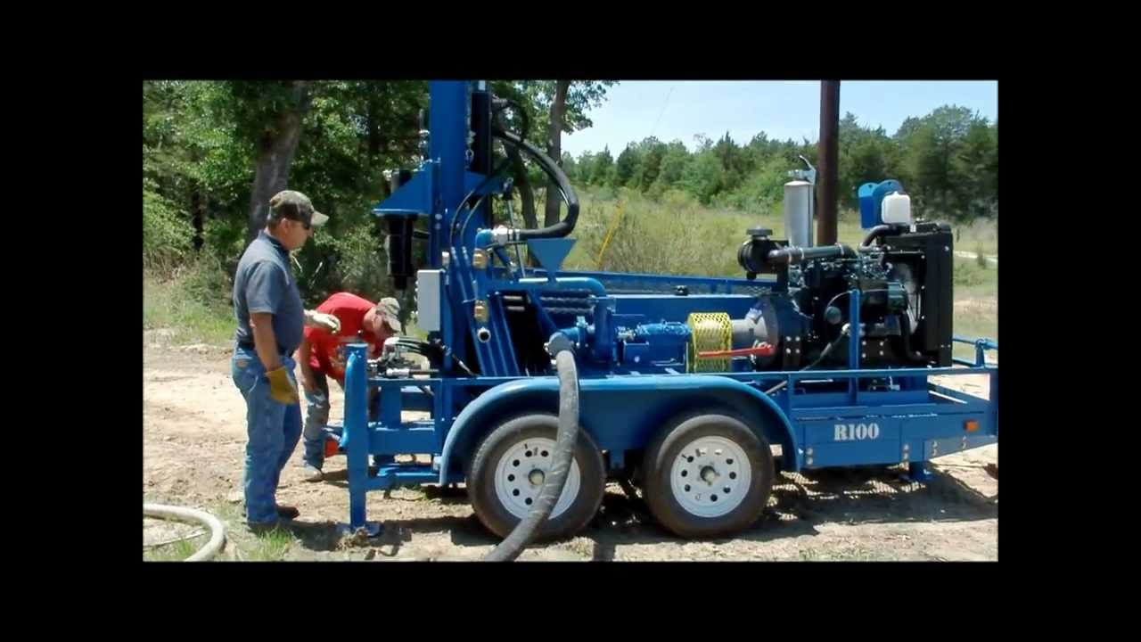 Rockbuster r portable water well drilling rig funnydog tv