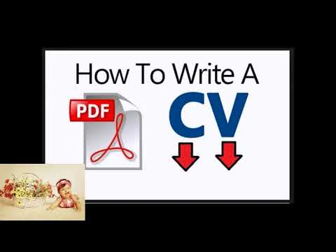 We Will Explain Now For You  How To Write Cv Pdf