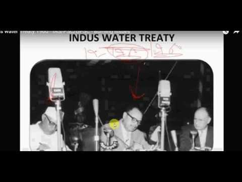 INDUS WATER TREATY FOR IAS MAINS