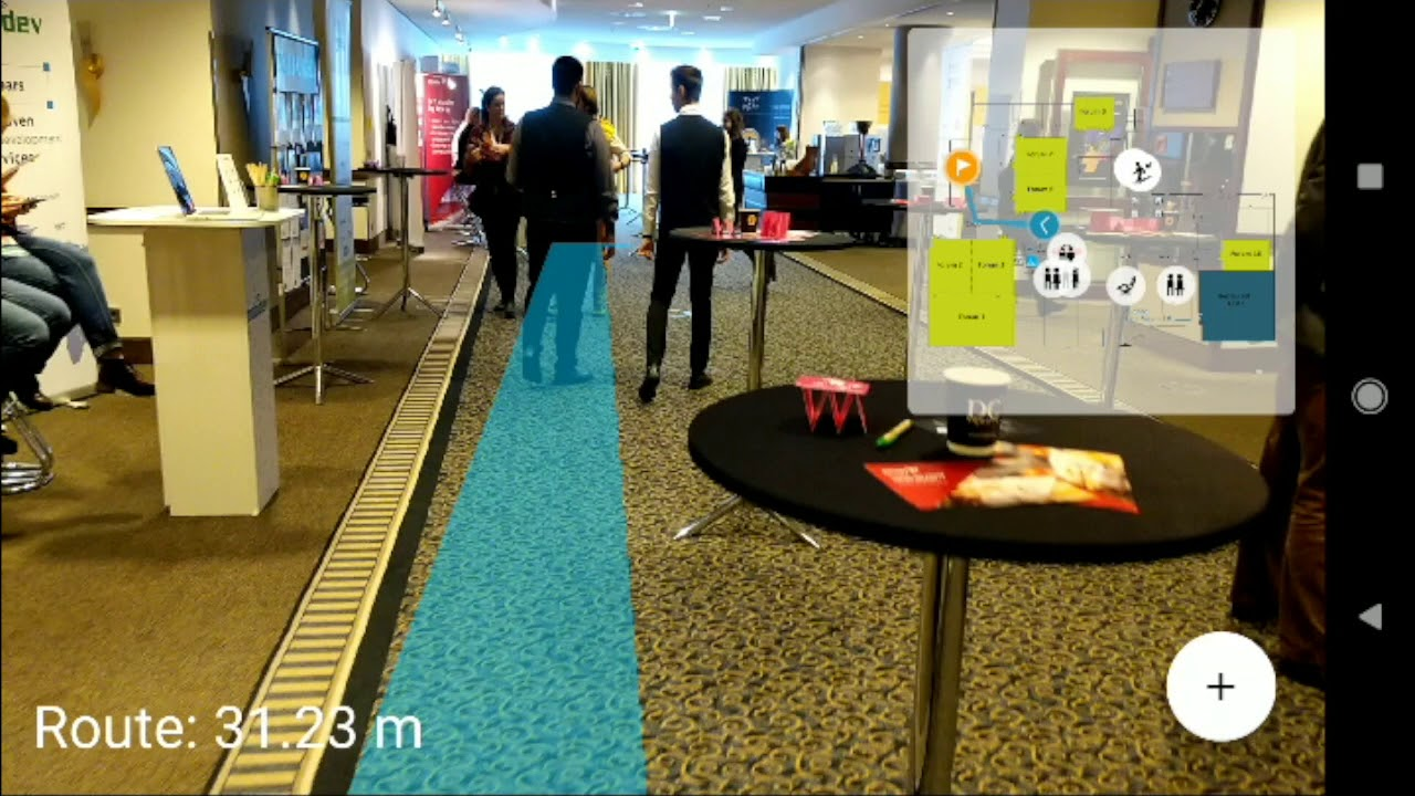 Augmented Reality Indoor Navigation with ARCore @MobileTechCon