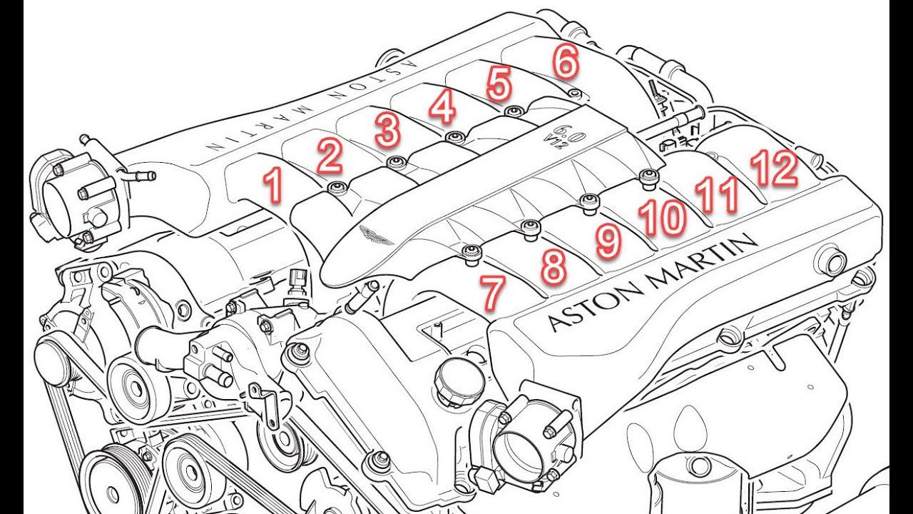 Aston Martin V12 Engine Cylinder Numbering Youtube