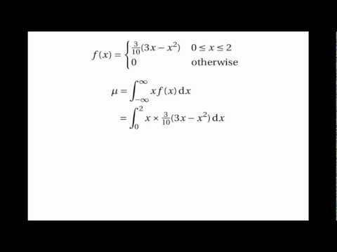 Continuous Random Variables: Mean & Variance