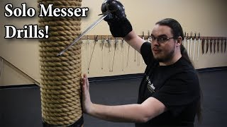10 Solo German Messer Drills in 5 minutes