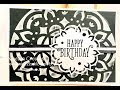 Stampin Up Embossing Paste Quick Card