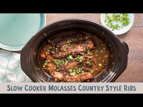 Slow Cooker Molasses Country Style Pork Ribs