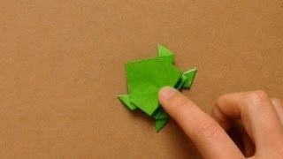 簡単折り紙★ ぴょんぴょんカエルの折り方 ★|how to make an origami frog easy thumbnail