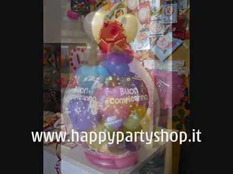 Allestimenti palloncini compleanno 18 anni matrimonio www happypartyshop it youtube - Addobbi tavoli per 18 anni ...