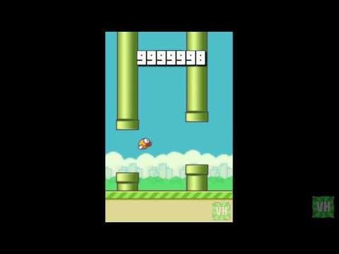 Flappy Bird High Score in History Over One Million Points 9,999,999 (World Record) No cheats