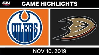 NHL Highlights   Oilers vs. Ducks – Nov. 10, 2019