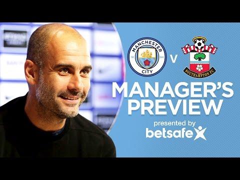 PEP ON AGUERO & KOMPANY   Man City v Southampton   Guardiola Press Conference