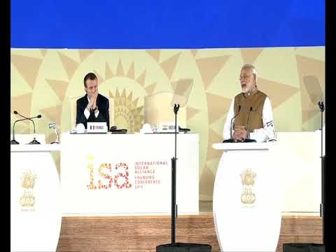 PM Modi's speech at the Founding Conference of the International Solar Alliance