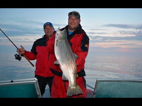 Night Fishing Salmon Lake Michigan- Larry Smith Outdoors
