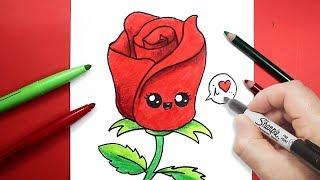 كيف ترسم وردة | رسم وردة | طريقة رسم وردة للاطفال بسهولة
