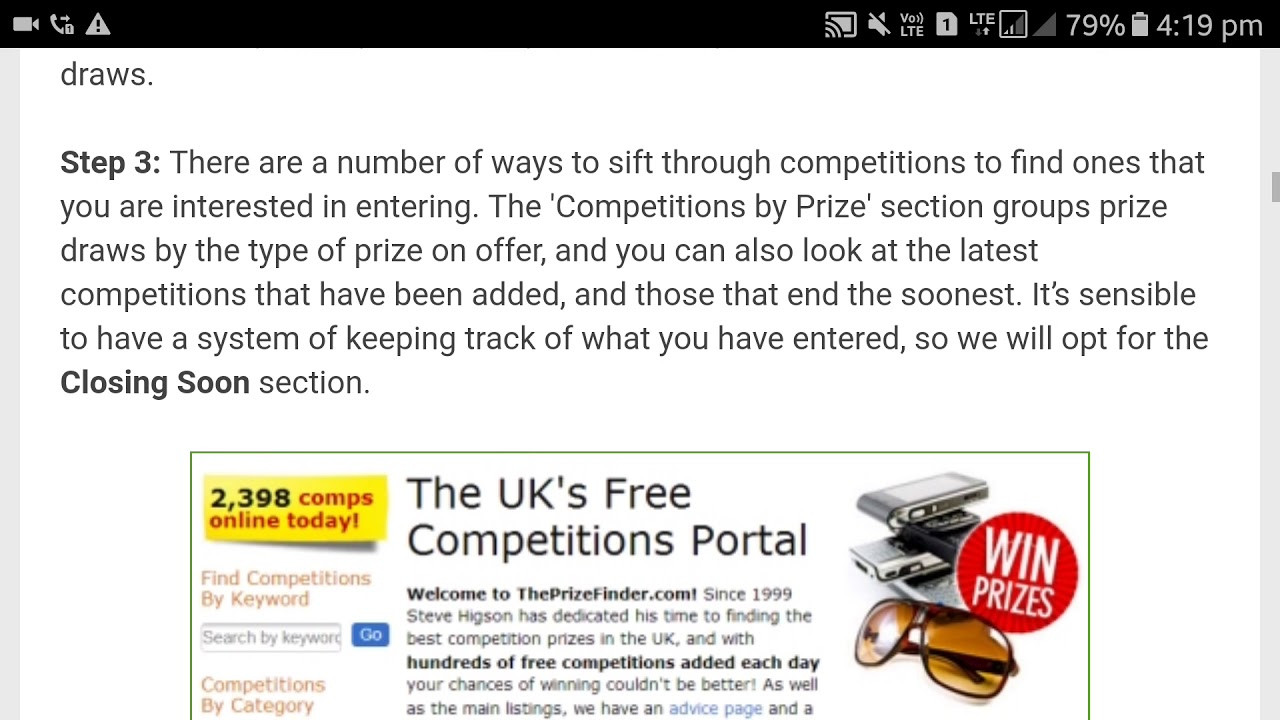 free competitions online
