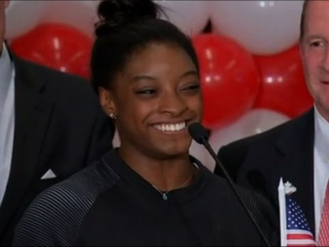 Simone Biles Returns Home After Olympics Sweep