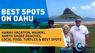 Best spots on Oahu - Hawaii vacation, Waikiki, north shore beaches, local food, turtles & best spots