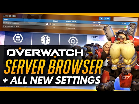 Overwatch | SERVER BROWSER + ALL NEW SETTINGS [PTR OVERVIEW]