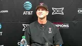 Texas Tech Baseball vs. TCU: Postgame Presser (Big 12 Champs) | 2019