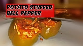 I tried potato stuffed bell peppers