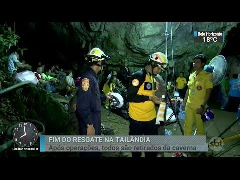 Jovens resgatados de caverna são mantidos em quarentena | SBT Brasil (10/07/18)
