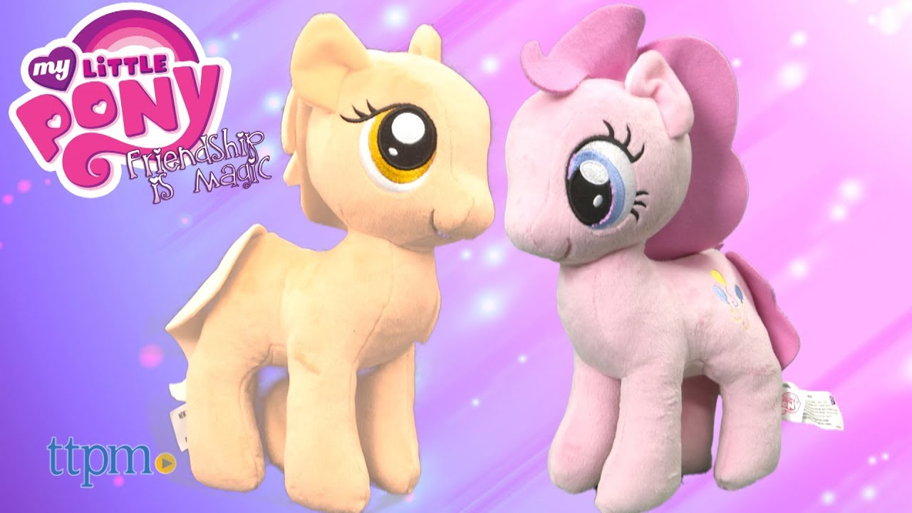 591c2330761 My Little Pony Friendship is Magic Pinkie Pie   Applejack Plush Dolls from  Hasbro