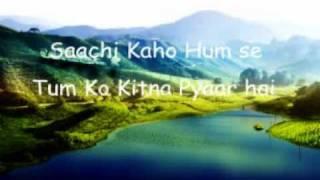 Saachi Kaho Hum Se Tum Ko Kitna Pyaar Hai.. (sajan ki bahon mein 1995)