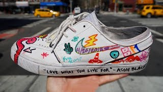 NYC Customizes my NIKE Shoes!
