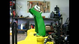 John Deere 44 Snowblower Electric Steel Chute and Deflector