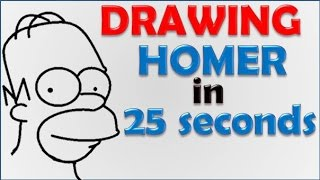 How to draw Homer Simpson in 25 seconds