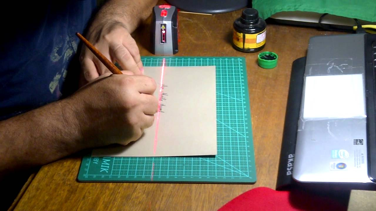 Laser calligraphy guide line youtube
